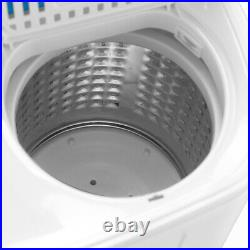 13.4LBS Compact Portable Washing Machine Twin Tub withDrain Pump Spiner Dryer Blue