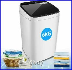 13.6lb Full-Automatic Washing Machine Compact Laundry Washer Spin with Drain Pump