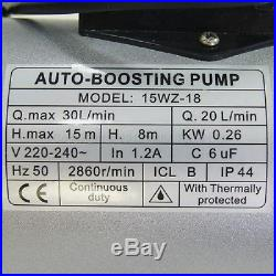 151414 260W Automatic Shower Washing Machine hot cold Water Booster Pump