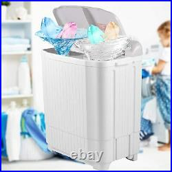 21.5lbs Compact Portable Washing Machine Twin Tub With Drain Pump Spiner Dryer