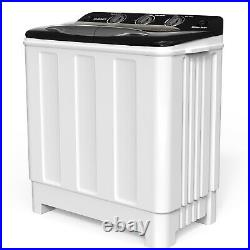 24lbs Twin Tub Portable Mini Washing Machine with Spiner & Built-in Drain Pump