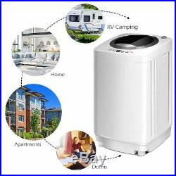 8 lbs Compact Full-Automatic Laundry Washing Machine Washer Spinner Drain Pump