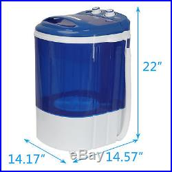9lbs Portable Compact Washing Machine withWasher&Spinner, Gravity Drain Pump Hose