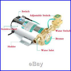 Electronic Automatic Home Shower Washing Machine Water Booster Pump 150W 220V