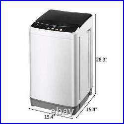 Full-Automatic Washing Machine Compact Laundry Washer Spin with Drain Pump 10Lbs