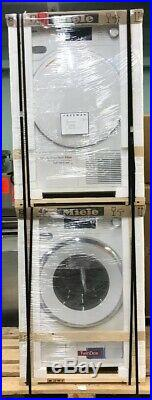 Miele WWH860WCS 24 Front Load Washer + Miele TWF160WP 24 Heat Pump Dryer