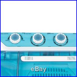Portable Compact Twin Washing Machine Washer Spin & Dry Cycle 9KG with DRAIN PUMP