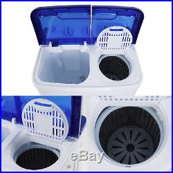 Portable Compact Washer & Spin Dry Cycle with Built in Pump Washer 16L