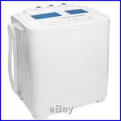 Portable Compact Washer and Spin Dry Cycle with Built in Pump 33L Washer 16L