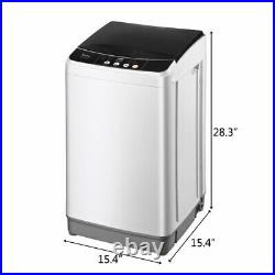 ZOKOP Full-Automatic Washing Machine Compact Laundry Washer Spin with Drain Pump
